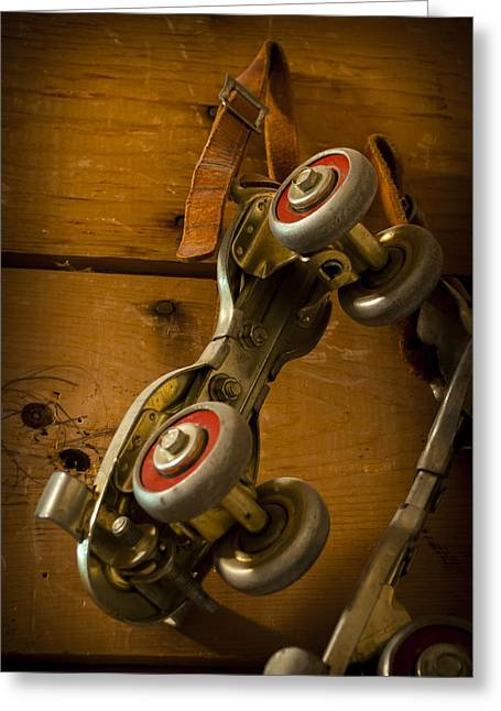 Old Skates Photographs Greeting Cards - Childhood Moments Greeting Card by Fran Riley