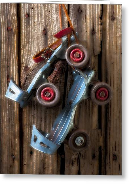 Old Skates Photographs Greeting Cards - Childhood skates Greeting Card by Garry Gay
