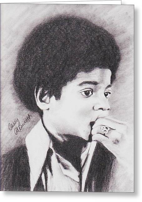 Michael Jackson Sketch Greeting Cards - Childlike Greeting Card by Cassandra Allsworth