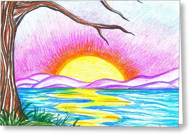 Childlike Wonder Greeting Card by Shawna  Rowe