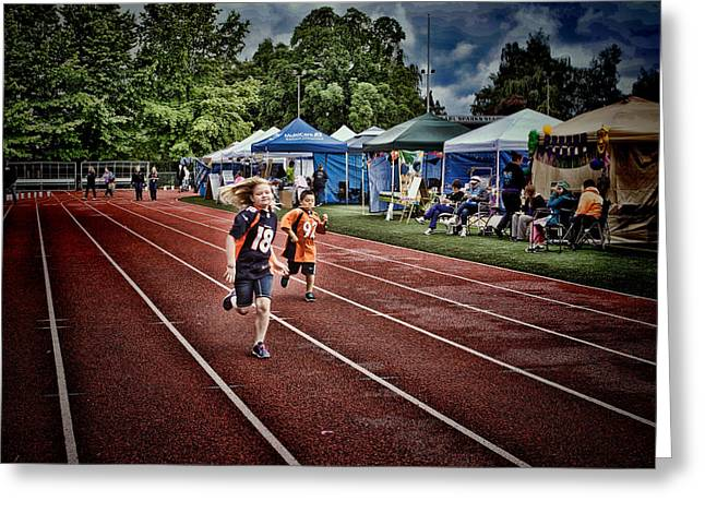 Ron Roberts Photography Greeting Cards - Children and Relay for Life Greeting Card by Ron Roberts