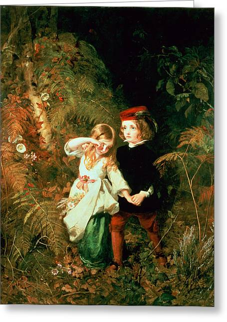 Reassurance Greeting Cards - Children In The Wood Greeting Card by James Sant