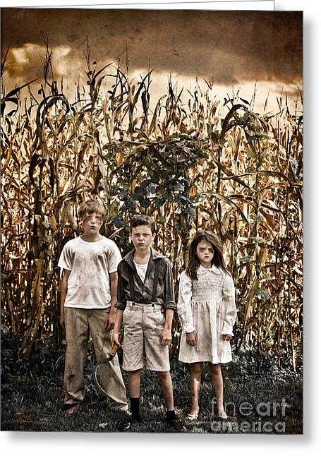 Book Cover Art Greeting Cards - Children of the Corn Greeting Card by Jt PhotoDesign