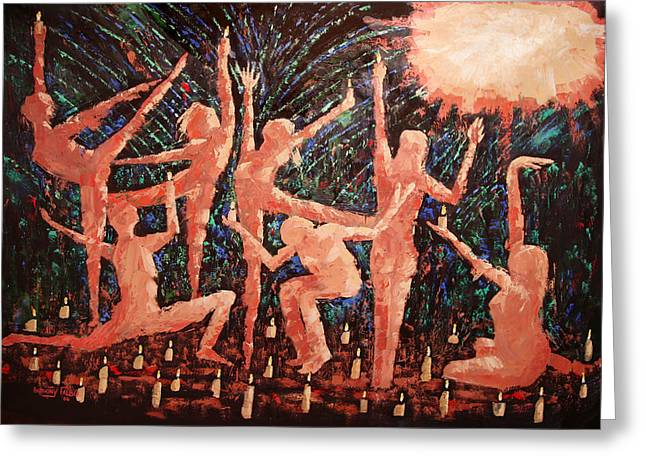 Nude Metal Greeting Cards - Children Of The Light Greeting Card by Anthony Falbo