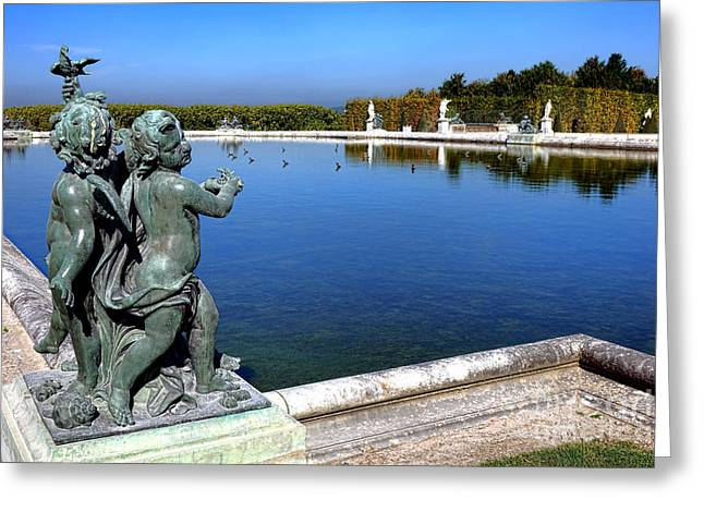 Classical Art Greeting Cards - Children Statue at Versailles Greeting Card by Olivier Le Queinec