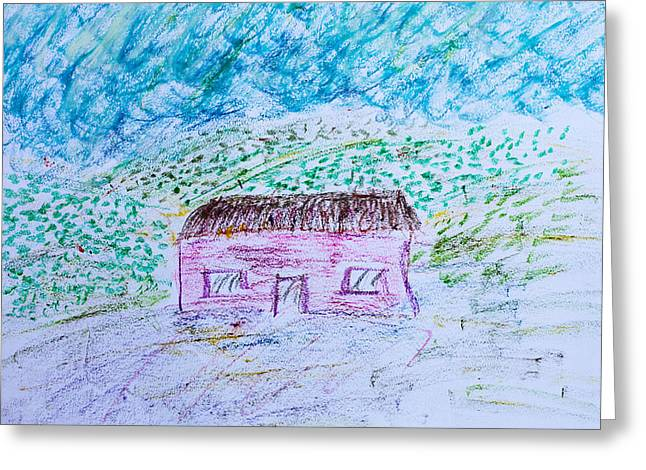 Child's drawing Greeting Card by Tom Gowanlock