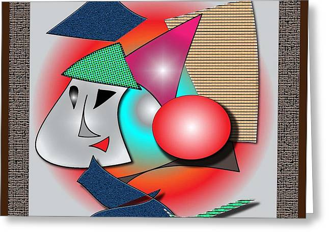 Abstract Digital Drawings Greeting Cards - Childs introduction to Picasso Greeting Card by Iris Gelbart