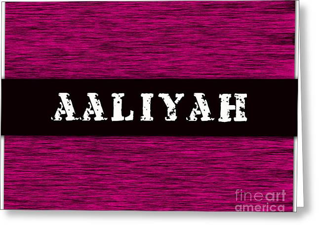 Childrens Greeting Cards - Childs Name Aaliyah Greeting Card by Marvin Blaine