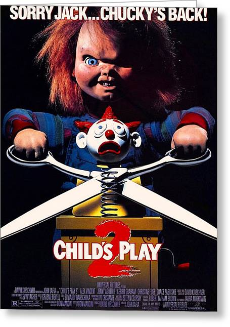 Movie Poster Gallery Greeting Cards - Childs Play 2  Greeting Card by Movie Poster Prints