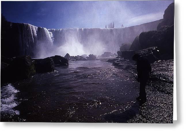 Chilean Waterfalls Greeting Card by Thomas D McManus