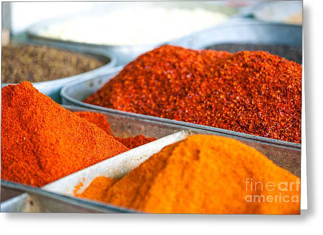 Local Food Photographs Greeting Cards - Chili pepper powder Greeting Card by Matteo Colombo