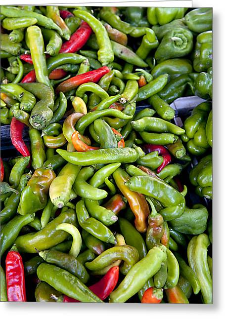 Chilies Greeting Cards - Chili Peppers © Laurence Simon  Tips Greeting Card by Tips Images