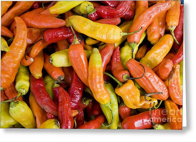 Chili Peppers Greeting Card by William H. Mullins