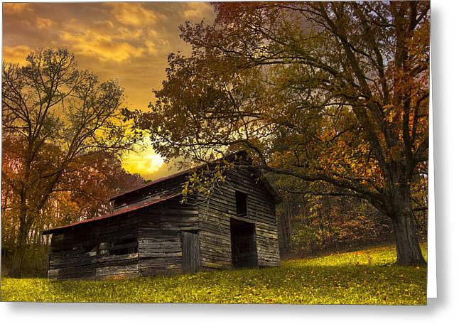 Tn Barn Greeting Cards - Chill of an Early Fall Greeting Card by Debra and Dave Vanderlaan