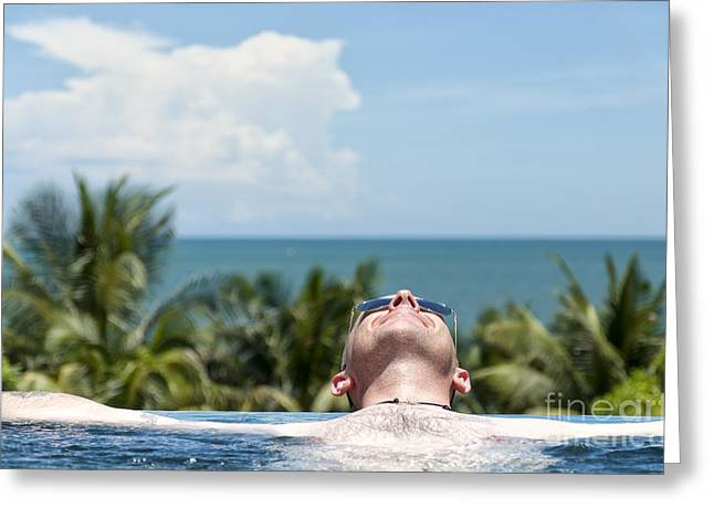 Chilled In Paradise Greeting Card by Antony McAulay