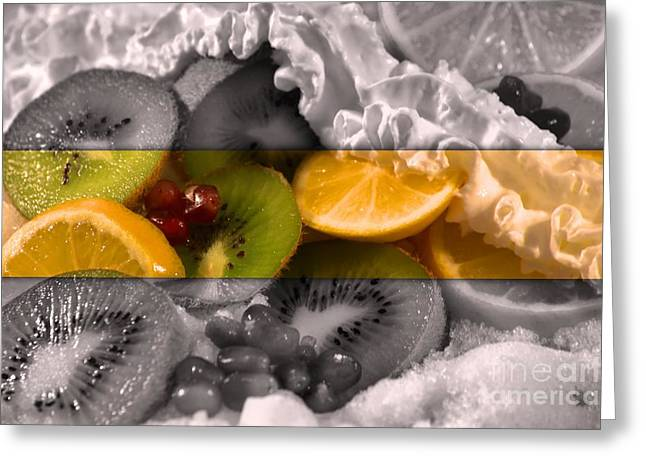 Chilled Greeting Card by KJ Bruce - Infinity Fusion Art