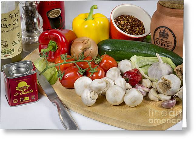 Olive Oil Greeting Cards - Chilli Con Carne Greeting Card by Donald Davis