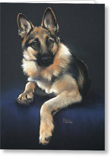 Guard Dog Pastels Greeting Cards - Chilli Greeting Card by Cynthia House