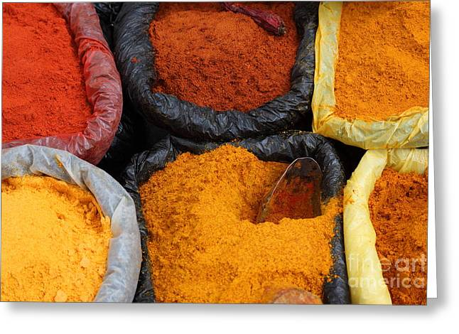 Recently Sold -  - Powder Greeting Cards - Chilli powders 2 Greeting Card by James Brunker
