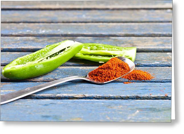 Healthy Herbs Greeting Cards - Chilli Greeting Card by Tom Gowanlock