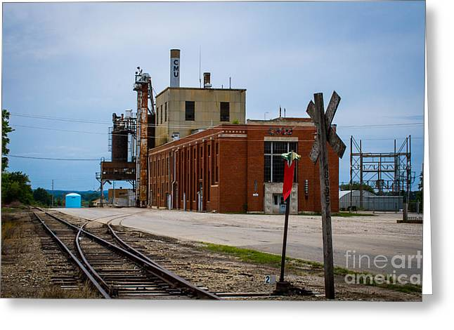 Power Plants Greeting Cards - Chillicothe Municipal Utilites Retired Power Plant 1 Greeting Card by Rick Grisolano Photography LLC
