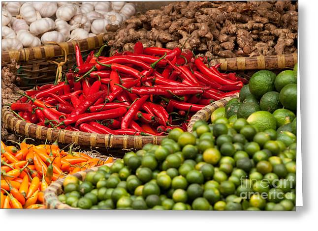 Viet Nam Greeting Cards - Chillies 01 Greeting Card by Rick Piper Photography