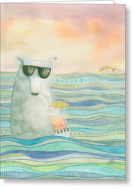 Chillin' Greeting Card by Aprille Lipton
