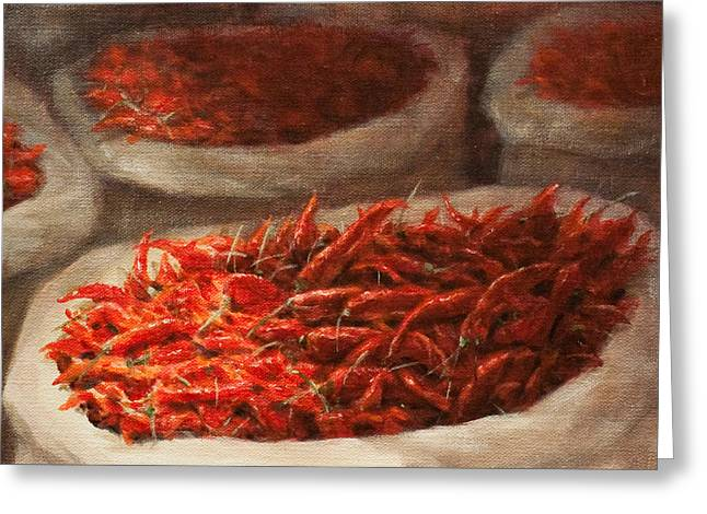 Chili Peppers Greeting Cards - Chillis 2010 Greeting Card by Lincoln Seligman