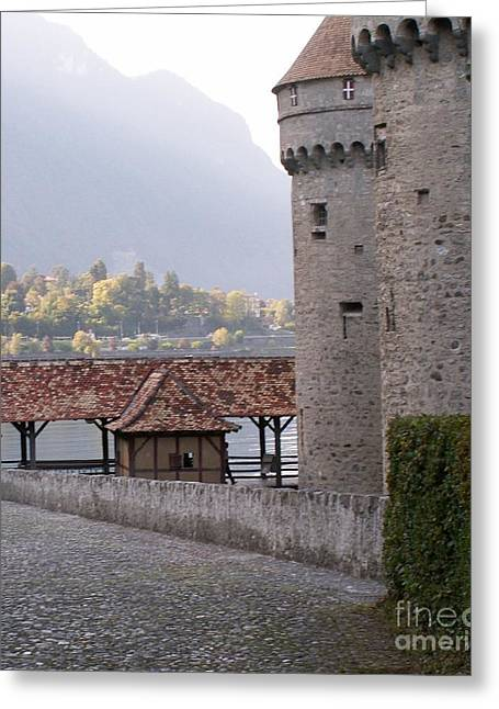 Chillon Greeting Cards - Chillon castle Greeting Card by Evgeny Pisarev