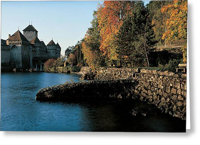 Chillon Greeting Cards - Chillon Castle Switzerland Greeting Card by Panoramic Images