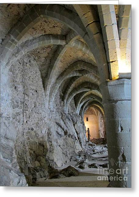 Chillon Greeting Cards - Chillon Dungeon Greeting Card by Lynellen Nielsen