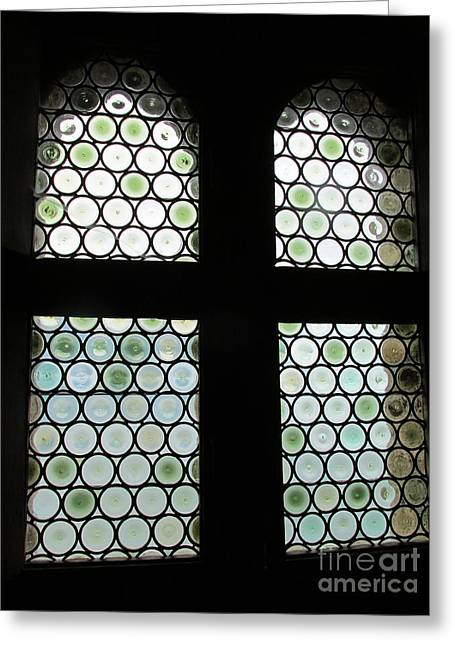 Chillon Greeting Cards - Chillon Window Greeting Card by Lynellen Nielsen