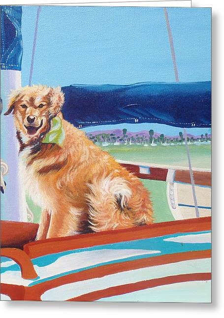 Sea Dog Greeting Cards Greeting Cards - Chilly Greeting Card by Sherri Carroll