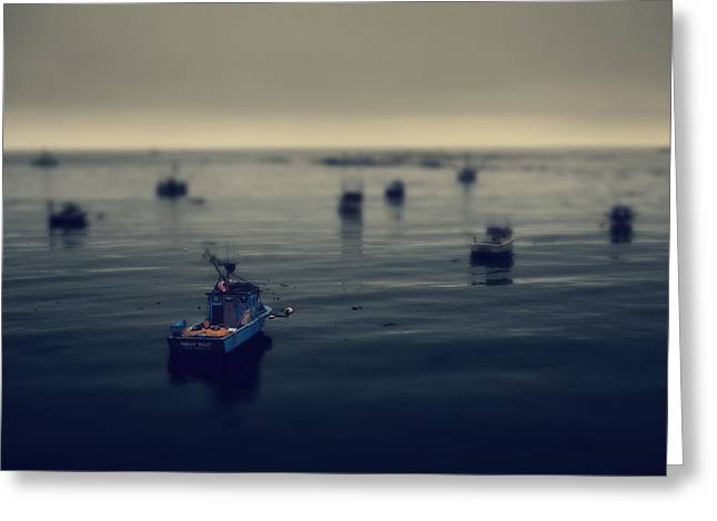 Ocean. Reflection Greeting Cards - Chilly Willy Greeting Card by Laurie Search