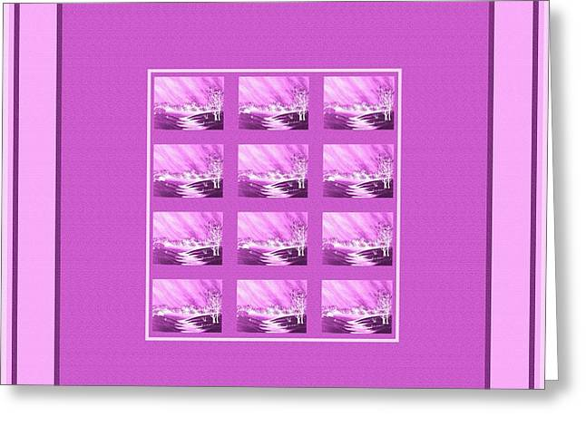 Lilac Tapestries - Textiles Greeting Cards - Chilly Winter Evening Greeting Card by Barbara Griffin