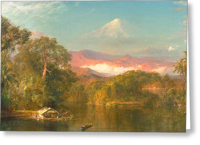 Shack Greeting Cards - Chimborazo Greeting Card by Frederic Edwin Church