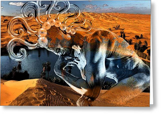 Digital Manipulation Greeting Cards - Chimera  Greeting Card by Marian Voicu
