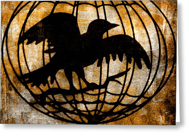 Wishes Mixed Media Greeting Cards - Chimera of Free Will 2 Greeting Card by Angelina Vick