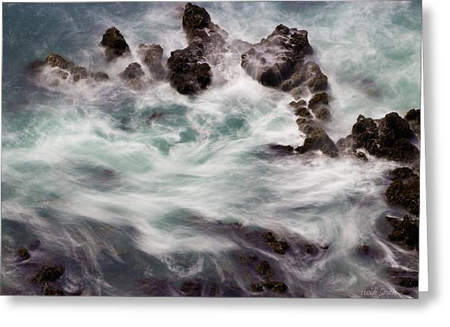 California Ocean Photography Greeting Cards - Chimerical Ocean Greeting Card by Heidi Smith