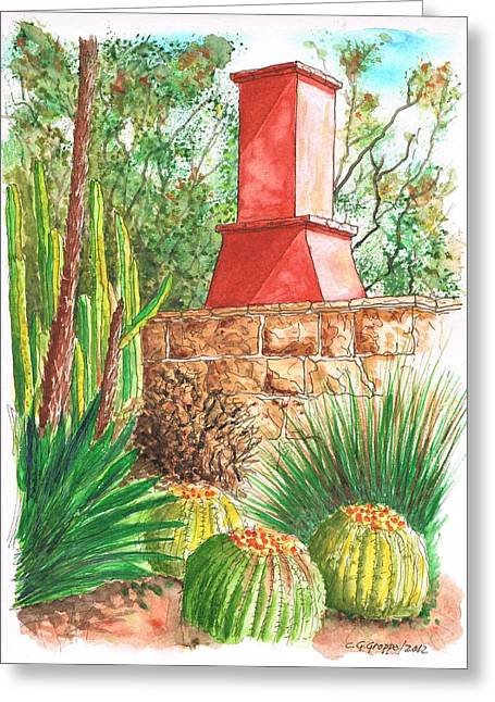 Acuarelas Greeting Cards - Chimney at The Arboretum - Arcadia - California Greeting Card by Carlos G Groppa