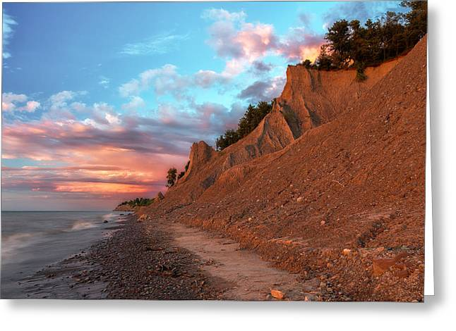 Colorful Cloud Formations Greeting Cards - Chimney Bluffs 3 Greeting Card by Mark Papke