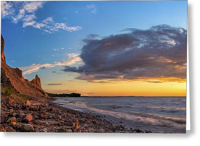 """high Peaks"" Greeting Cards - Chimney Bluffs Greeting Card by Mark Papke"