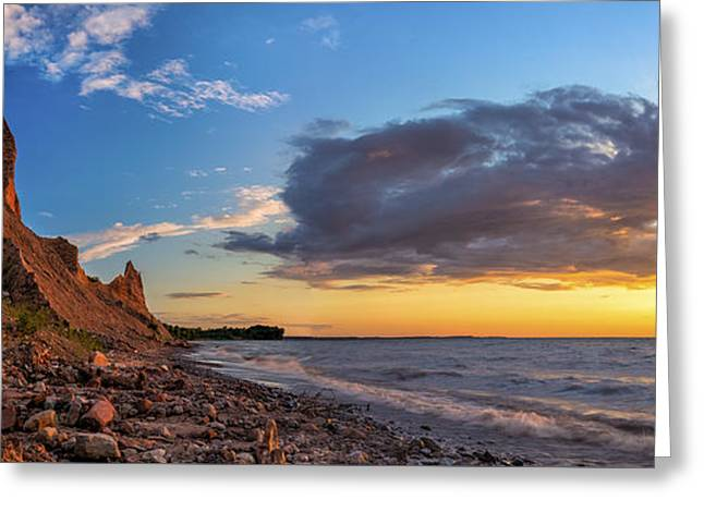 Chimney Rock State Park Greeting Cards - Chimney Bluffs Greeting Card by Mark Papke