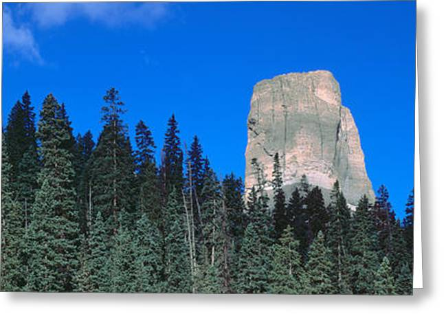Plantlife Greeting Cards - Chimney Peak In Uncompahgre National Greeting Card by Panoramic Images