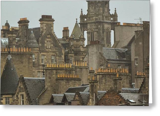 Bill Mock Greeting Cards - Chimney pots of Edinburgh Greeting Card by Bill Mock