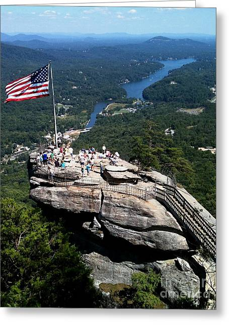 Chimney Rock North Carolina Greeting Cards - Chimney Rock 2 Greeting Card by Reid Callaway