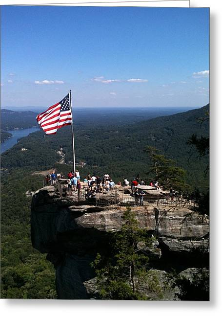 Chimney Rock North Carolina Greeting Cards - Chimney Rock 3 Greeting Card by Reid Callaway