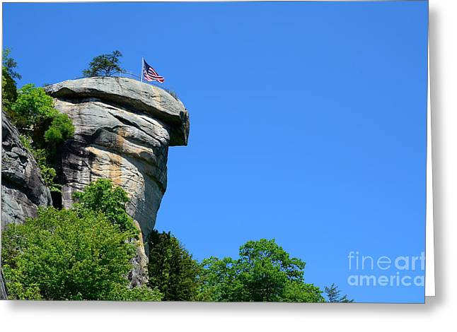 Chimney Rock North Carolina Greeting Cards - Chimney Rock Greeting Card by Blaine Owens