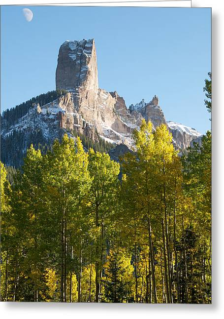 Chimney Rock Greeting Cards - Chimney Rock - Colorado  Greeting Card by Aaron Spong