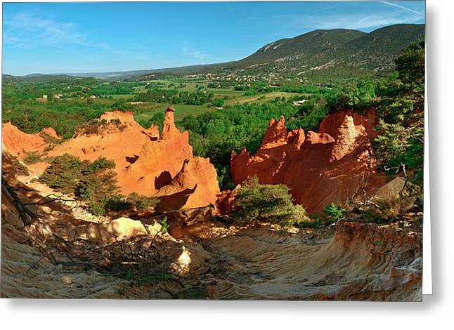 Chimney Rock Formations, Rustrel Greeting Card by Panoramic Images